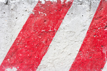 Grungy Cement Wall Background With Red Lines