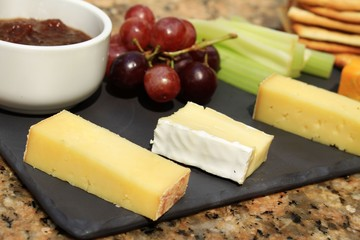 cheese selection platter