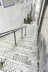 Old stairs in Lisbon