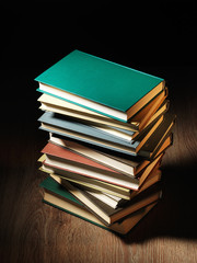 Stack of hardcover books