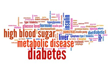 Diabetes concept - word cloud illustration.