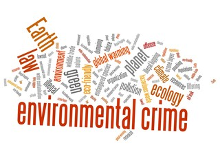 Environmental crime - word cloud illustration.