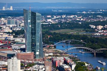EZB Neubau in Frankfurt von oben