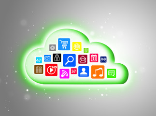 Cloud computing concept for business presentations