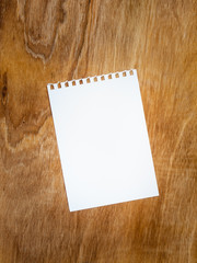 blank page of a notebook