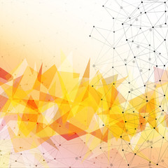 Orange triangle design background, vector illustration