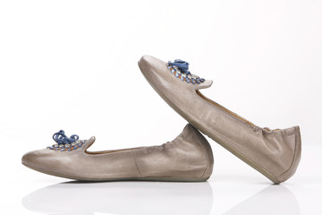Two Ballet Shoes isolated on the white