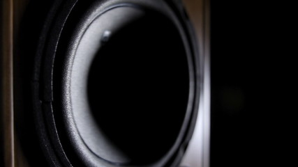 Loudspeaker playing music