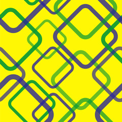 Geometric seamless pattern in Brazil flag concept