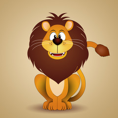 Funny lion