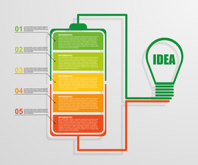 Modern design creative infographic business concept.