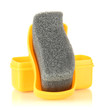 Shoe shine sponge, isolated on white