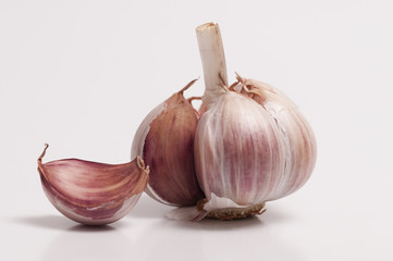 Garlic Bulb and a Individual Clove