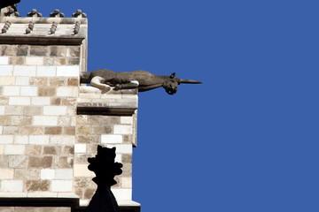Unicorn gargoyle,, Cathedral of Barcelona, Catalonia Spain