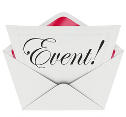 Event Word Invitation Envelope Special Access VIP Admission