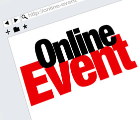 Online Event Website Words Internet Digital Meeting Show