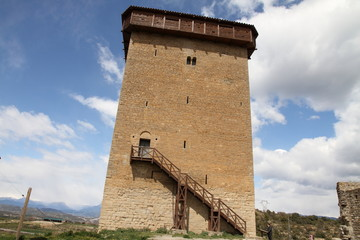 Tower in Abizanda in Huesca Pyrenees Huesca Aragon Spain