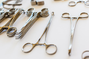 Arranged surgical clamps