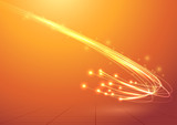 Bright electric abstract cable speed bandwidth poster