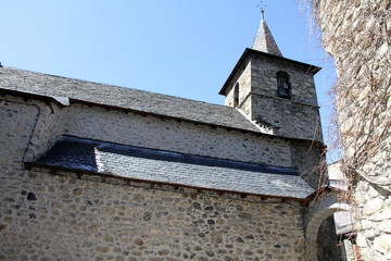 Medieval church Anciles village Benasque Huesca Pyrenees Spain