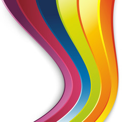 Bright rainbow lines colorful background
