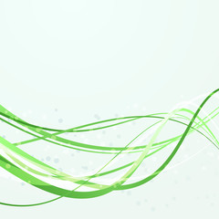 Green swoosh abstract lines template