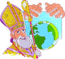 El papa máximo jerarca de la iglesia Católica