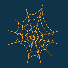 vector stitching as cobweb shape for halloween