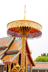 decoration in Thai Buddhist temple ,Wat Phra That Hariphunchai ,