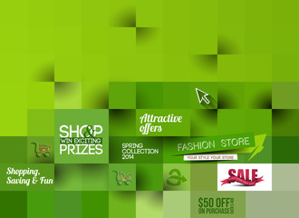 Abstract Fashion Poster Template For Advertising