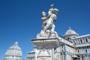 Statue in Pisa in Tuscany, Italy