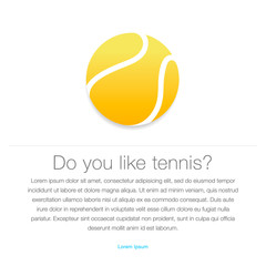 Tennis icon. Yellow tennis ball