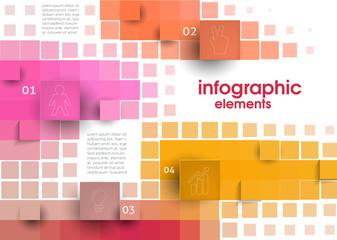 Abstract Squares Banner