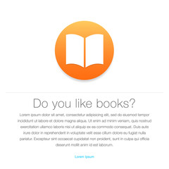 Ebook icon. E-book symbol