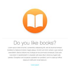 Ebook icon. E-book symbol