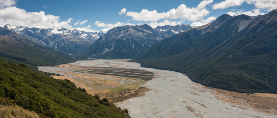 Southern Alps panorama, New Zealand