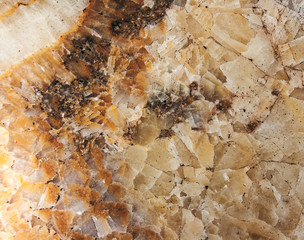 Gem stone onyx close-up, natural cracked texture