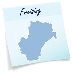 Freising als Notizzettel