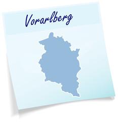Vorarlberg als Notizzettel