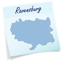 Ravensburg als Notizzettel
