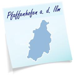 Pfaffenhofen als Notizzettel