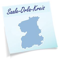 Saale-Orla-Kreis als Notizzettel