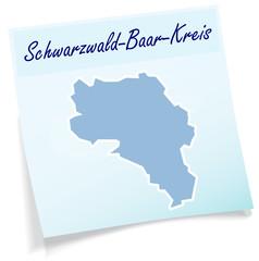 Schwarzwald-Baar-Kreis als Notizzettel