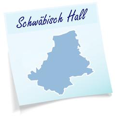 Schwaebisch-Hall als Notizzettel