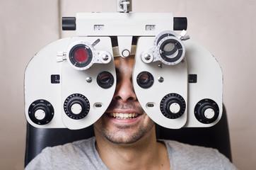 Optical lab, optometrist calibration.