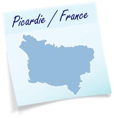 Picardie als Notizzettel