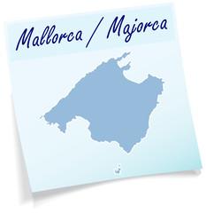 Mallorca als Notizzettel