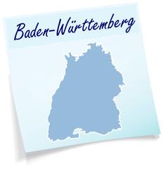 Baden-Wuerttemberg als Notizzettel