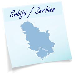 Serbien als Notizzettel