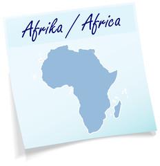 Afrika als Notizzettel